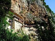 Prodromou monastery built in 12th century at Loussious Gorge. Arcadia, Peloponnese. Greece