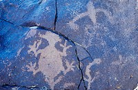 Great Basin petroglyphs. Grimes Point. Great Basin National Park. Nevada. USA