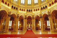 Interior of Parliament. Budapest. Hungary
