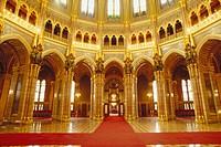 Interior of Parliament. Budapest. Hungary