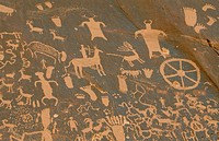 Petroglyphs, Anasazi culture. Newspaper Rock State Historic Park. Utah. USA