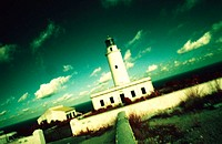 Lighthouse at Barberia Cape. Formentera, Balearic Islands. Spain