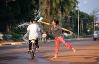 Pii Mai (Water Festival). Vientiane. Central Laos