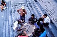 Men playing domino. Santiago de Cuba. Cuba