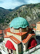 Church at Dimitsana town. Arcadia, Peloponnese. Greece