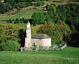 Littel chapel. Pyrenees Mountains. France
