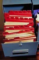 A-Z index in filing cabinet