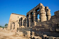 Luxor (ancient egyptian city of Thebes). East Bank of the Nile