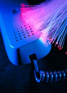 Fiber optics and telephone handset