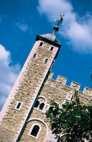 Detail of White Tower, nucleus of a series of concentric defenses built between XII and XII centuries, central keep of Tower of London fortress. Londo...