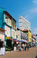 Touristic area of Chinatown. Singapore