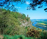 Kinnoull Hill and River Tay, near Perth. Perth and Kinross. Scotland