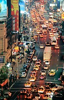 Traffic at Times Square. New York City. USA