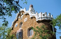 Pavilion at the Güell Park (Gaudí, 1900-1914). Barcelona. Spain
