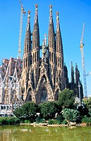 Sagrada Familia, Church of the Holy Family (Gaudí, 1883-...). Barcelona. Spain