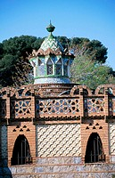 Pavillion at the Güell Estate (Gaudí, 1880's). Barcelona. Spain