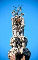 Decoration of pavillion at the Güell Estate (Gaudí, 1880's). Barcelona. Spain