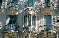 Facade of the Calvet House (Gaudí, 1898-1904). Barcelona. Spain
