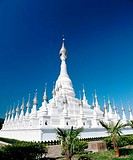 White Pagoda In Banna. Yunnan. China