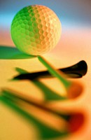 Tees and golf ball (thumbnail)
