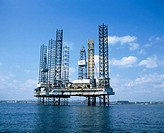 Jack-up oil rigs. Firth of Forth. Scotland (thumbnail)