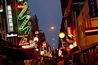 Nightlife in Leidseplein. Amsterdam. Holland