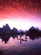 Guilin, Li River at Sunset, China