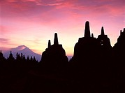 Java, Borobudur, Mount Herapi, Sunrise, Indonesia