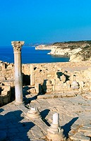 Early Christian basilica at Kourion archeological site. Cyprus