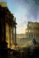 Landscape of Italy c. 1800 Hubert Robert (1733-1806/French). Musee Calvert, Avignon