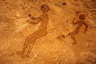 Rock Fresco Tassili N´ Ajer Plateau Cave of Tan Zoumaitor Algeria