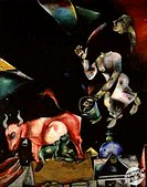 Russia, with Donkeys and Nonsense 1911 Marc Chagall (1887-1985/Russian). Musee National d´ Art de Moderne, Paris