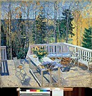 Forsaken Veranda 1911 Stanislav Julianovi Zukovskij (1875-1944 Russian). Oil on canvas Tula Regional Art Museum, Russia