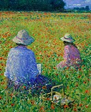 Field of Poppies, July Afternoon 1998 Charles Neal (b.1951/ British) Oil on canvas