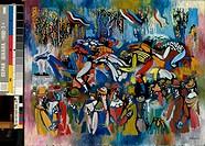 Horse Race 20th C. Vytandas Kasiulis (1918/Lithuanian). Ciurlionis State Art Museum, Lithuania