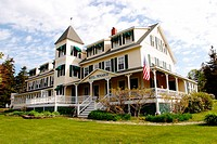 Hotel at Pemaquid Point. Maine. USA