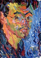 Self Portrait 1906 Karl Schmidt- Rottluff (1884-1976/German). Oil on canvas Private Collection * Permission code C. Additional permission may be requi...