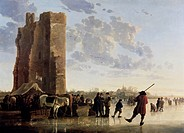 View of the Mass in Winter Aelbert Cuyp 1620_1691 Dutch