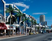 Buildings along a road, Surfers Paradise, Queensland, Australia