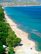 Plaka beach near Tolo village. Argolis, Peloponnese. Greece