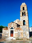 Church at Ohia village on Mani Peninsula. Laconia, Peloponnese. Greece