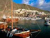 'Los Gigantes'. Town and marina. Tenerife. Canary Islands. Spain