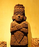 Volcanic statue. Tolteca civilization. National Museum of Anthropology in Mexico City