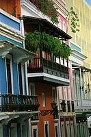 This stunning Spanish colonial buildings on San Jose Street in Old San Juan are just steps from Plaza de Armas, a favorite meeting place for tourists ...