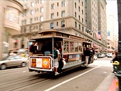 Cable car. San Francisco. CA. USA