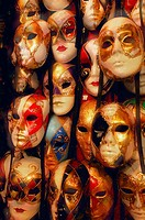 Masks on Display in Shop Venice,Italy
