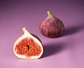 Figs on lilac background
