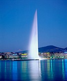 Water fountain. Geneva. Switzerland