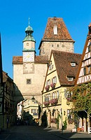 Markusturm. Rothenburg ob der Tauber. Bavaria. Germany