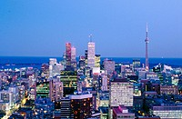 Downtown from Panorama restaurant. Toronto. Canada